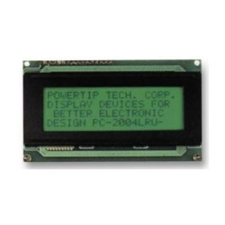 Pantalla LCD de 20 x 4 caracteres, color amarillo
